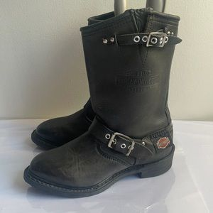 Soft Leather Harley Davidson Boots Size 5